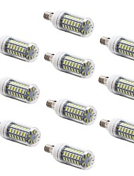 E14 / G9 / E26/E27 LED лампы типа Корн T 69 SMD 5730 1000 lm Тёплый белый / Холодный белый Декоративная AC 220-240 V 10 шт.