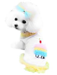 Hunde T-shirt Gelb / Blau / Rosa Hundekleidung Frühling/Herbst Karton / Schleife Modisch