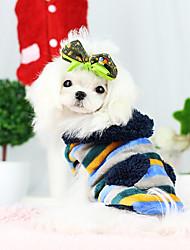 Dog Coat Yellow / Dark Blue Dog Clothes Winter Fashion