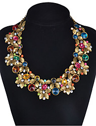 MPL Europe and the United States are exaggerated palace flowers gem clavicle chain