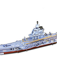Jigsaw Puzzles 3D Puzzles Building Blocks DIY Toys Aircraft Carrier Paper Gray Model & Building Toy