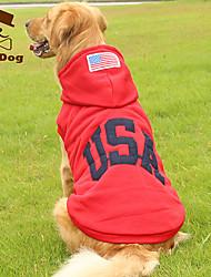 Hoodies for Dogs Red / Dark Blue Winter Keep Warm / Fashion XL / XXL / XXXL Cotton