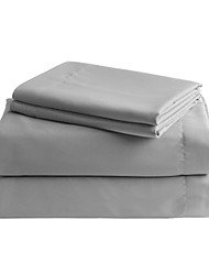 Grey Solid Microfiber Sheet Sets