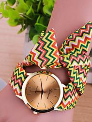 Women Korean Fashion Personality Wavy Fabric Belt Bracelet Watch Cool Watches Unique Watches