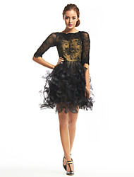 TS Couture® Cocktail Party Dress A-line Bateau Short / Mini Lace / Tulle with Lace