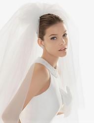 Wedding Veil Two-tier Blusher Veils / Elbow Veils / Fingertip Veils Cut Edge