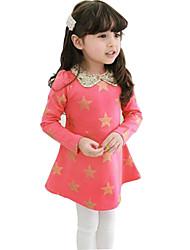 Girl's Red Dress , Cartoon Cotton Spring / Fall