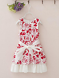 Girl's Floral Dress Summer Sleeveless