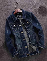 2016 Japanese retro spring section Mens denim jacket men slim Korean denim jacket Metrosexual jeans tide