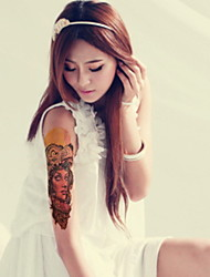 People Langtou Portrait Beauty Girl  Waterproof Flower Arm Temporary Tattoos Stickers Non Toxic Glitter
