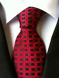 Krawatte (Rot , Polyester) Gitter