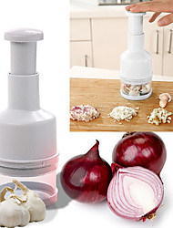 Multifunctional Manual Hand Pressure Onion Garlic Vegetable Fruit Stainless Blade Cutter Shredder Grinder