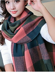 Women Luxury Fashion Plaid Oversized Cashmere Winter Neck Warm Scarf Blanket Scarf Female Shawls and Scarves Tippet