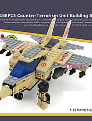168pcs jouets classique construction de modèle de combattant bloque garçons contre cadeau terrorisme blocs de construction