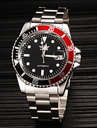 WINNER® Men's Classic Automatic self-winding Mechanical Calendar Luminous Stainless Steel Band Fashion Wrist Watch Cool Watch Dress Watch