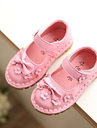 Girls' Shoes Dress / Casual Mary Jane / Comfort Faux Leather Flats Pink / Red / White