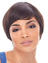 Elegant Style Cover Forehead Bang Design African American Women Wigs
