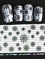 5pcs 20*4cm 2016 New Japanese White  Series Nail Art Spiderwed Shape Design Transfer Foils DIY Nail Sticker STZ Jw4