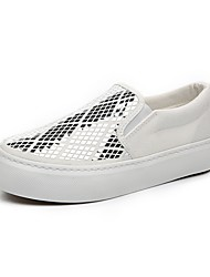 Women's Shoes Canvas Platform Creepers / Comfort / Round Toe Loafers / Slip-on Outdoor / Casual Black / White / Gray