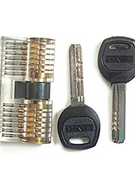 Professional Visible Cutaway of Challenge Lock for Training Skill with 2 Keys and 2 Heads