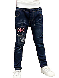 Boy's Cotton Jeans,Spring / Fall Solid