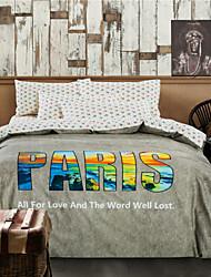 edredón de la venta caliente cubren las camas gris parís jogo de cama de alta calidad para adultos ropas de cama 3pcs dormitorio completo