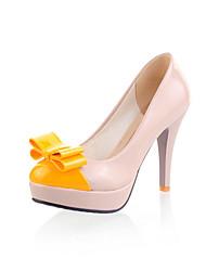 Women's Shoes Patent Leather Stiletto Heel Heels Heels Wedding / Office & Career /  Dress Yellow / Green / Red