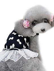 Dog Dress / Clothes/Clothing Black Spring/Fall Fashion