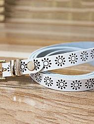 Women Calfskin Skinny Belt,Vintage / Casual Alloy All Seasons