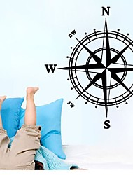 Compass background living room bedroom waterproof removable wall stickers customized wholesale