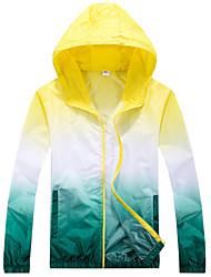 Men's Long Sleeve Jacket , Polyester Casual / Sport Color Block , Sunscreen&Fishing Jacket K151
