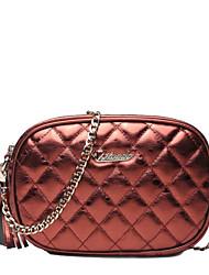 Women PU / Cowhide Sling Bag Shoulder Bag-Gold / Black / Burgundy