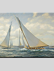 Peint à la main Paysages AbstraitsModern / Classique / Réalisme / Pastoral / Style européen Un Panneau Toile Peinture à l'huile Hang-peint