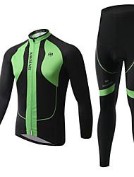 XINTOWN® Fahrradhose mit Jacke Unisex Langärmelige Fahhrad warm halten / Fleece Innenfutter / Isoliert / Anti-Geräusch / 3D Pad