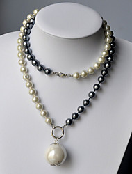 Exaggerated big Pearl Pendant Long all-match accessories