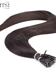 "Neitsi® 20"" 1g/s Nano Ring Loop Straight Hair 100% Human Hair Extensions Black 1B# Include Hair Tools"