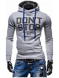 Men's Long Sleeve Hoodie & Sweatshirt , Cotton Color Block