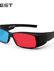 unisex rojo azul cumputer tv gafas 3D únicas de moda