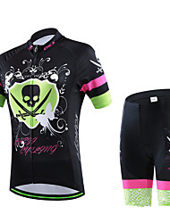 CHEJI Biking Comfortable Breathable Short-sleeve Cycling Jersey & Cycling Jersey Pant 3D Padd