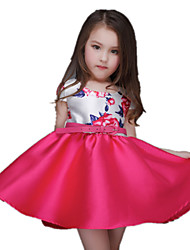 Girl's Dress,Polyester Summer Multi-color