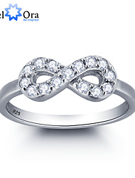 2016 Noble 8 Infinite Love Full Zircon 925 Sterling Silver Ring For Woman&Lady