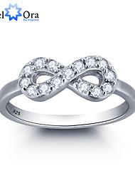 Ringe Imitation Diamant Runde Form Hochzeit / Party / Alltag / Normal Schmuck Sterling Silber / Zirkon Damen Bandringe 1 Stück,6 / 7 / 8