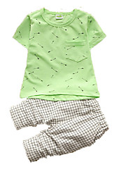 Boy's Cotton Clothing Set,Summer Check