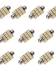 10 en 1 42mm9 5050 Patch lampe LED voiture C5W double pointe lampe ampoule DC12V