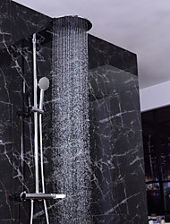 Bathroom Wall Mounted Brass Waterfall Shower Faucet Shower Column