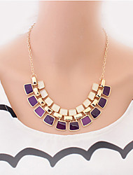 Women's Statement Necklaces Gemstone Alloy Fashion Cute Style European Costume Jewelry Jewelry For Party