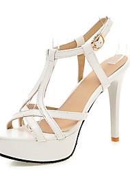Zapatos de mujer-Tacón Stiletto-Plataforma / Tira en T / D'Orsay y Dos Piezas-Sandalias-Boda / Vestido / Fiesta y Noche-Cuero Patentado-