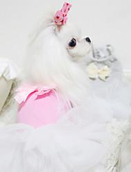 Cães Casacos Rosa / Cinzento Roupas para Cães Verão Da Moda
