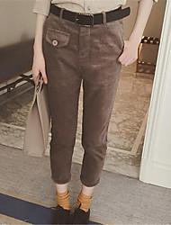 Pantaloni Da donna Skinny Moda città Cotone Media elasticità