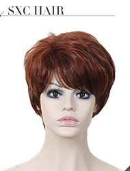 Short Human hair Wigs #2 Unprocessed Virgin Brazilian Glueless None Lace Machine Made Human Hair Wigs